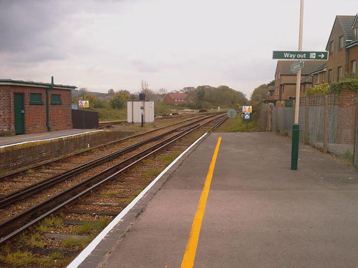 Isle of Wight 2	Island Line Sanddown Station (Großbritanien) am 16.09.12