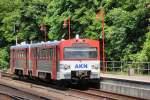 sonstiges/346980/akn-triebwagen-bei-der-einfahrt-in AKN Triebwagen bei der Einfahrt in Elmshorn am 03.06.2014